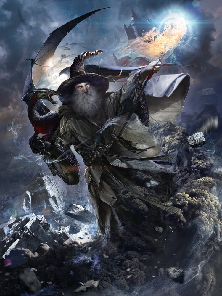 Wizard of the dragons ( dark version )