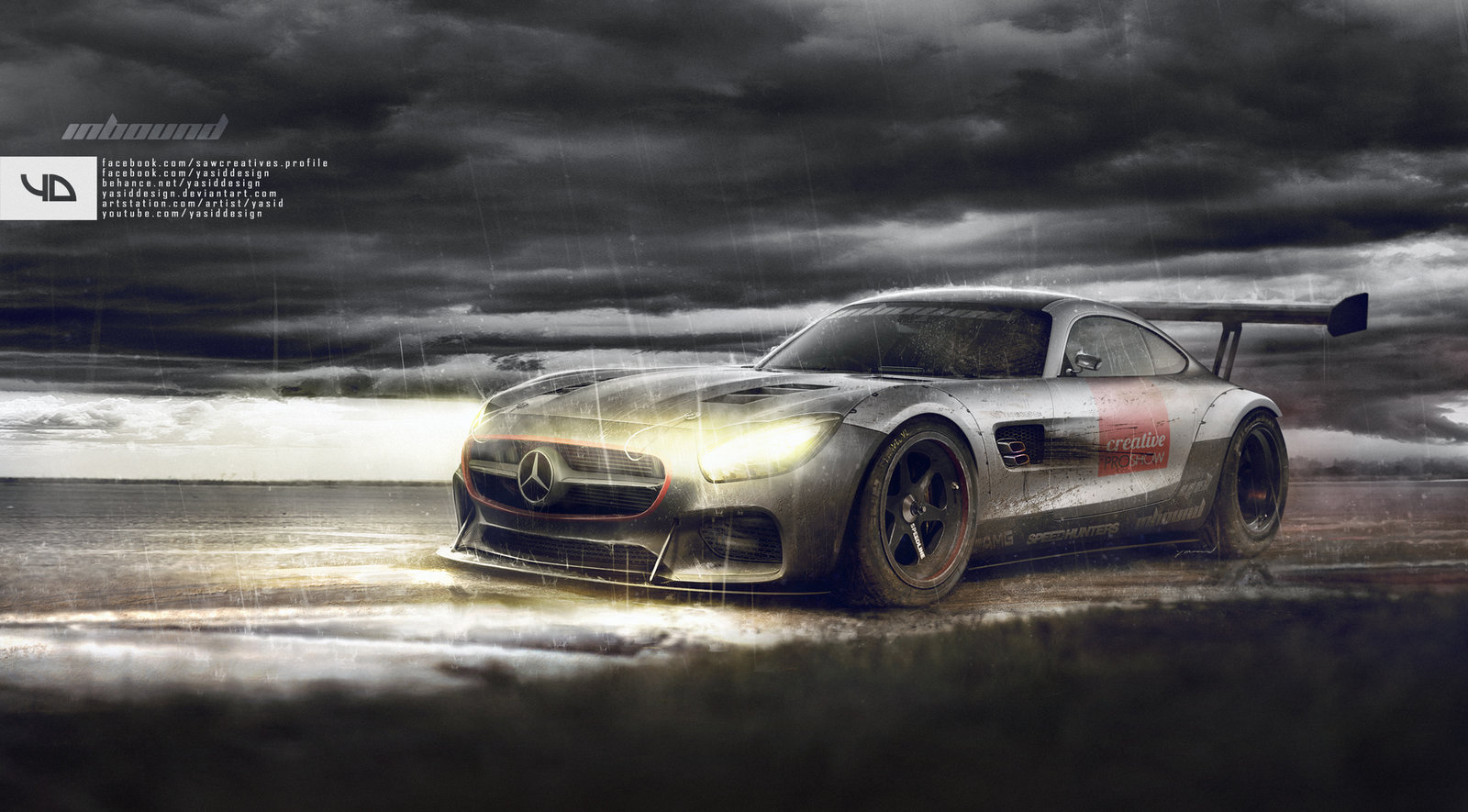 AMG GT - rain p.process