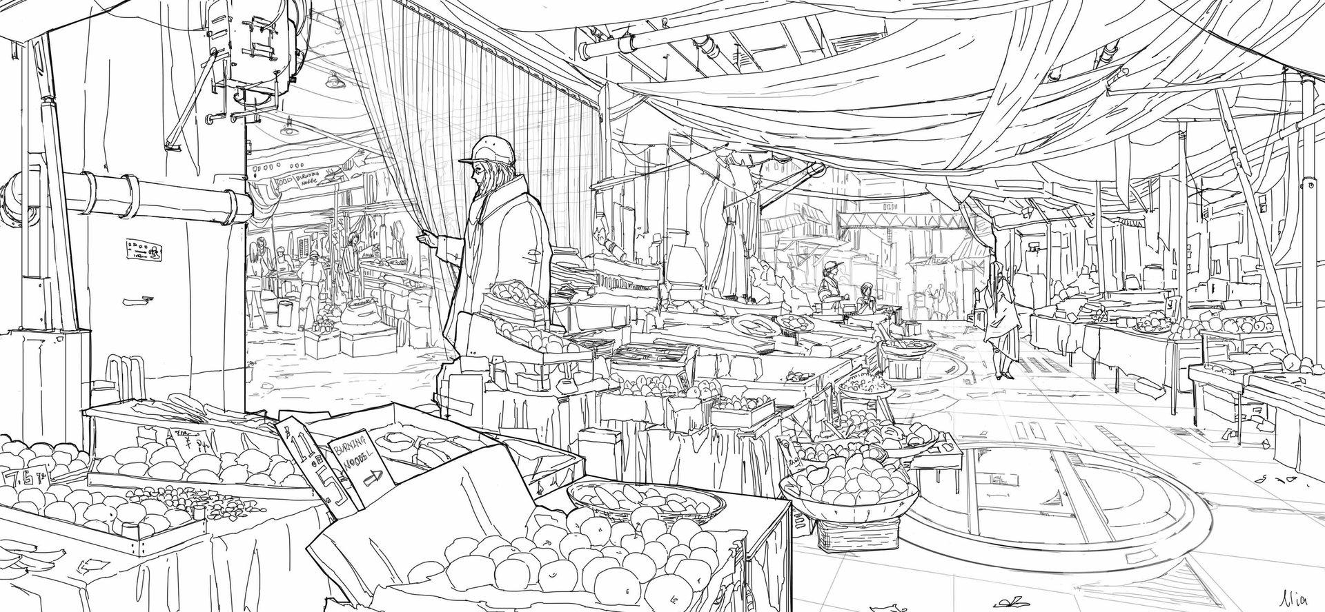 Llia yu llia line drawing 003