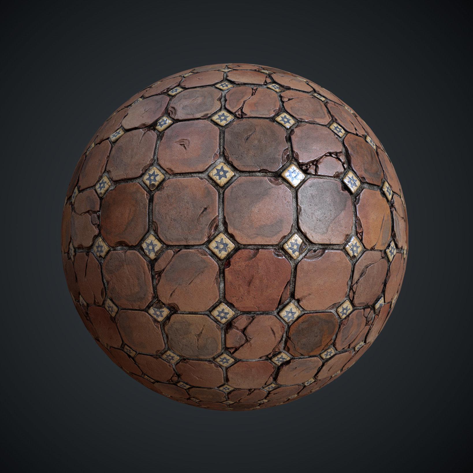 Leonid kuzyakin terracotta tiles texture