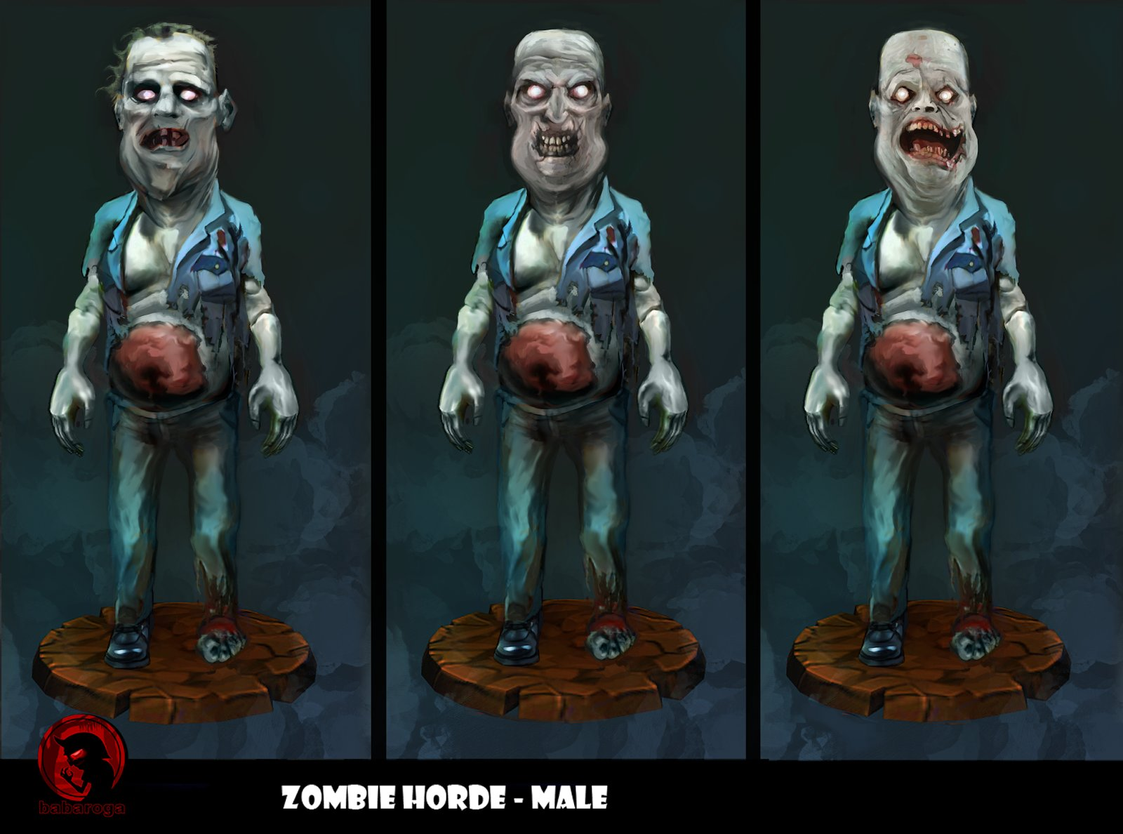 Frank pusateri zombie variants male02