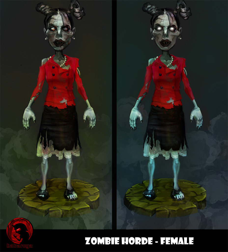 Frank pusateri zombies female2 front