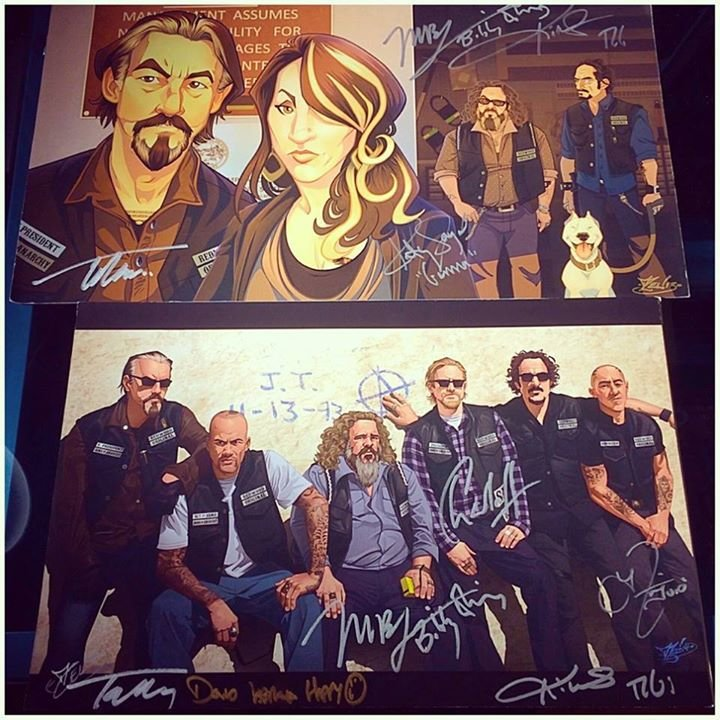 Being the awesome fella he is, David Labrava, who commissioned the piece, got the prints signed by everyone pictured.