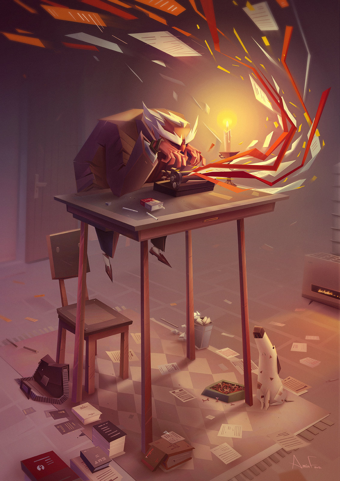 ArtStation - Writers Write, Amin Faramarzian