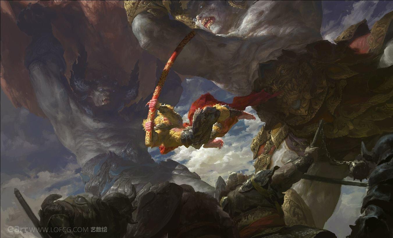 Fenghua zhong two demon king vs monkey king