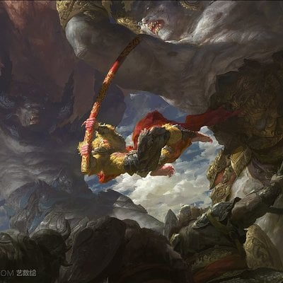 Fenghua zhong two demon king vs monkey king