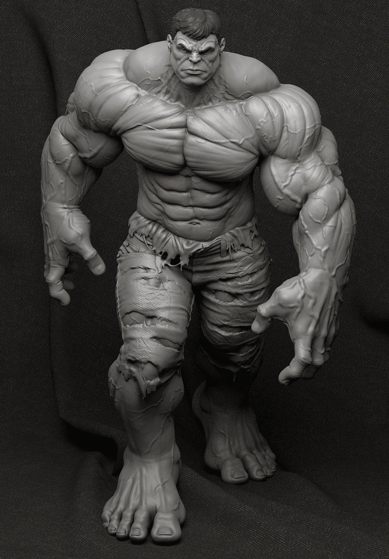 Bruno camara hulk clayrender front bruno camara