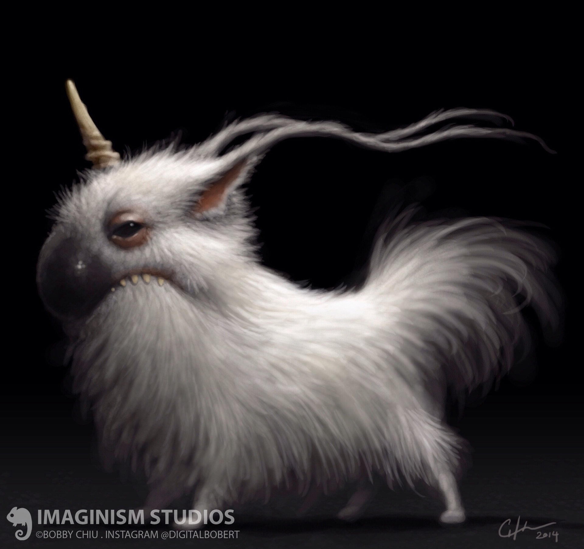 Bobby chiu scrappy little unicorn by imaginism d7fio36