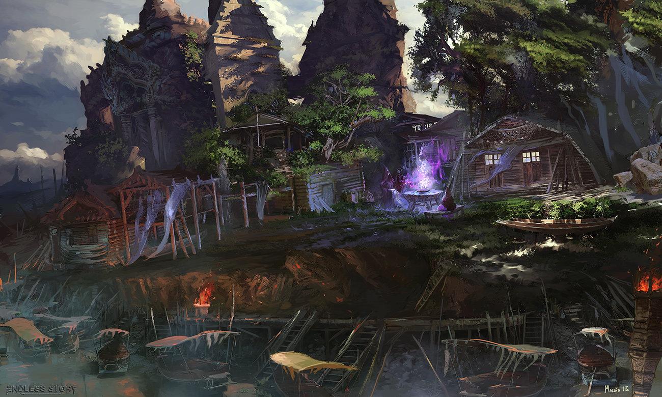 Endless River environment sketch