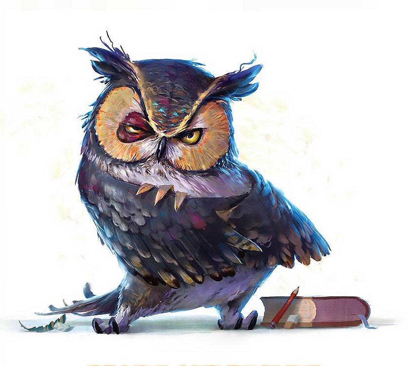 Artstation Grumpy Owl Lip Comarella