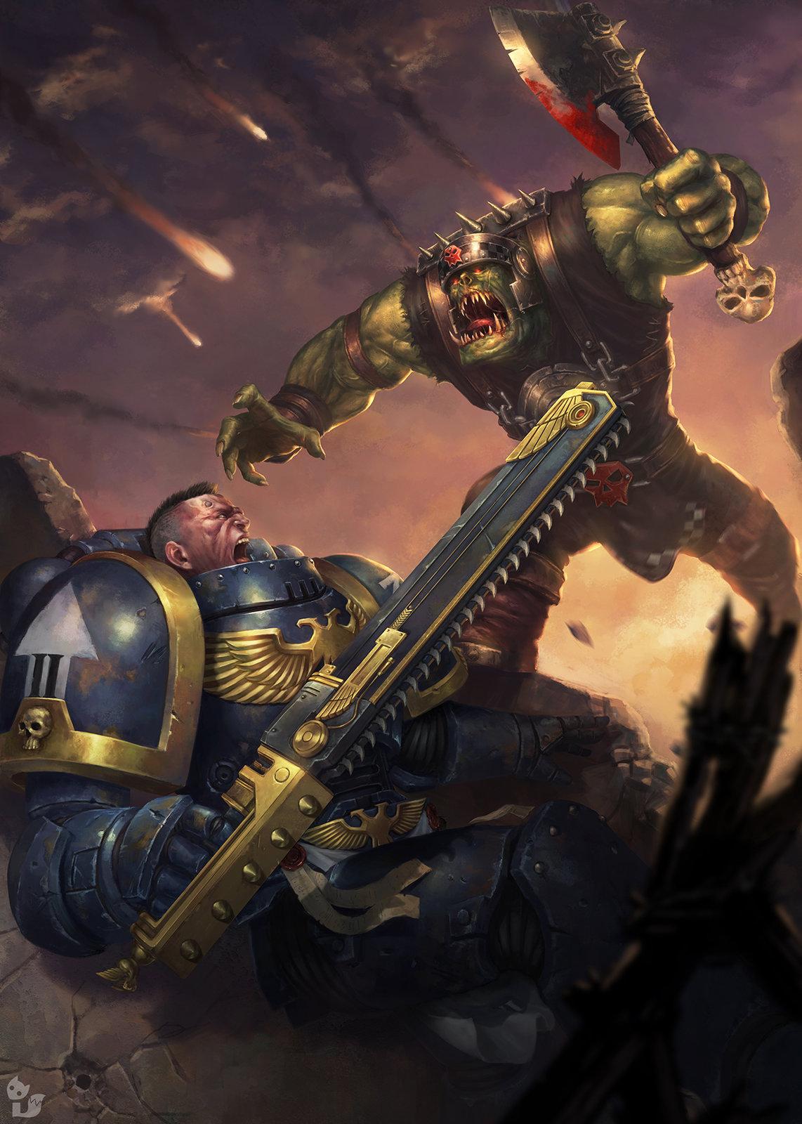 Spacemarine vs Ork