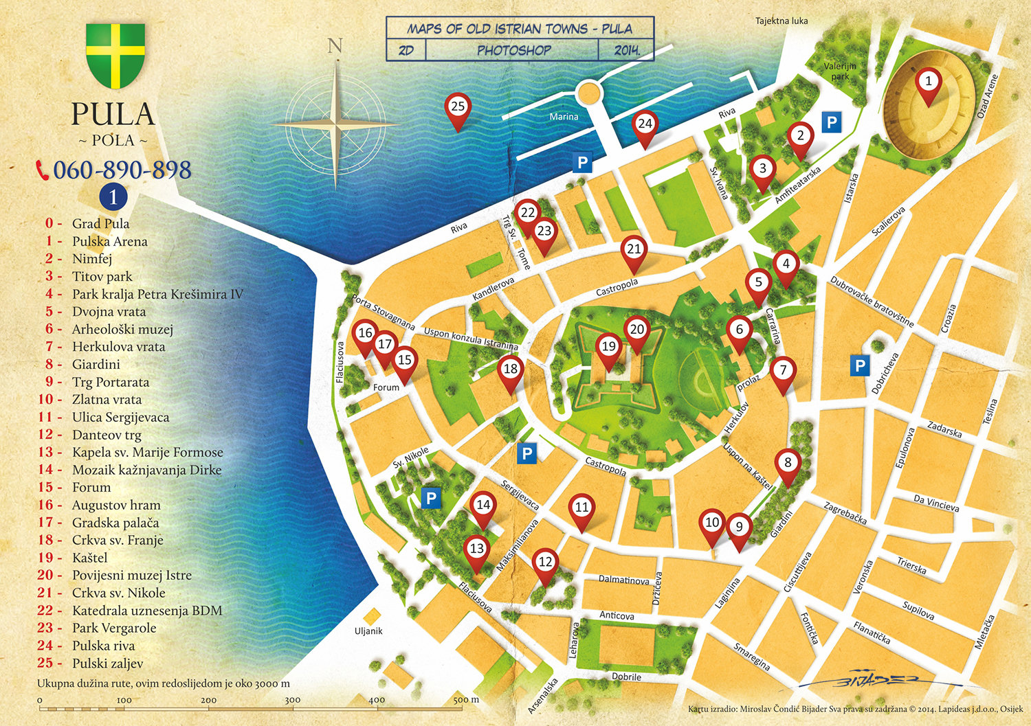 City Maps Map Of Pula Districts