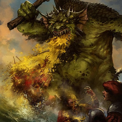 Jb casacop warhammer invasion troll vomit by jbcasacop d6t5hy2