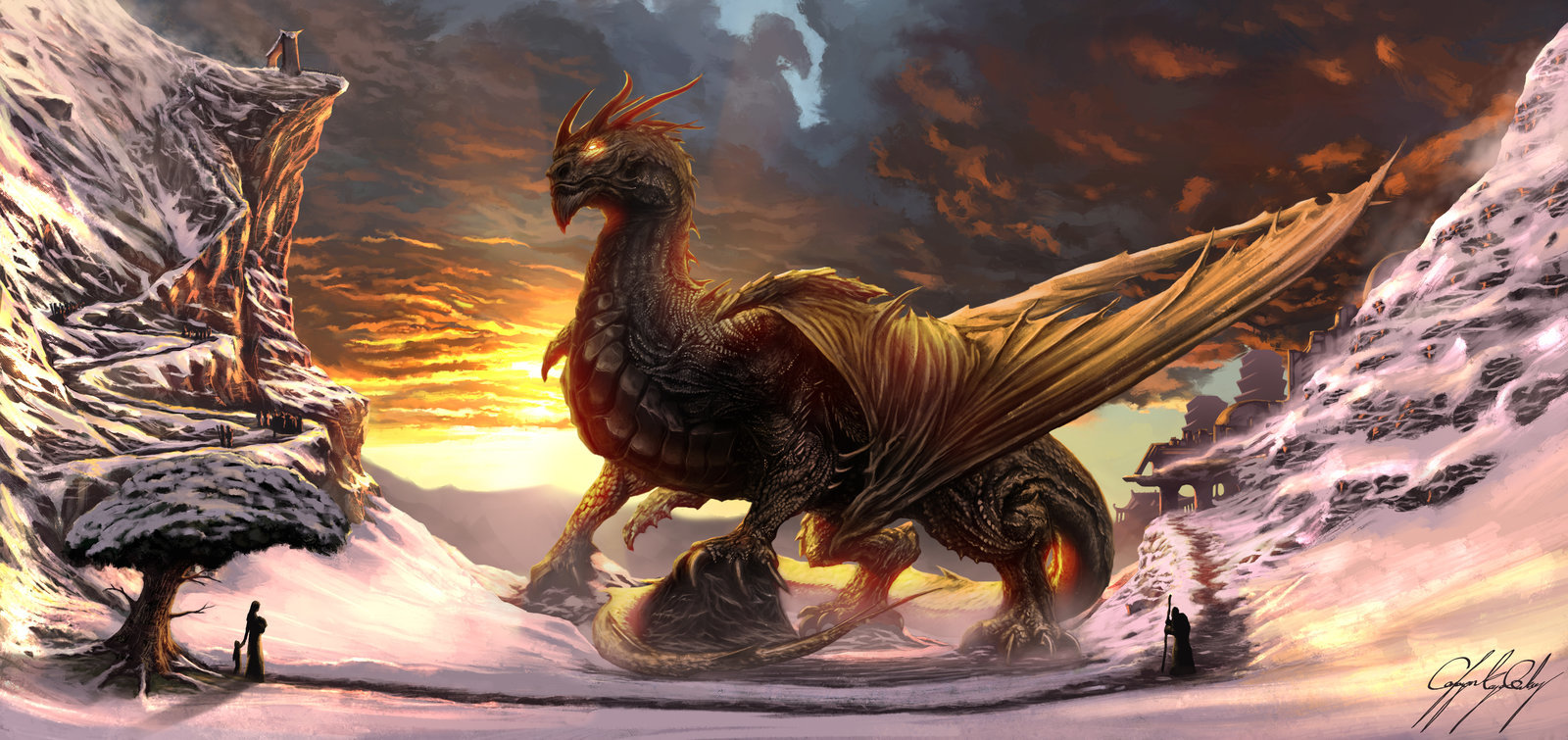 Caglayan goksoy golden guardian by skyrace d8gl807