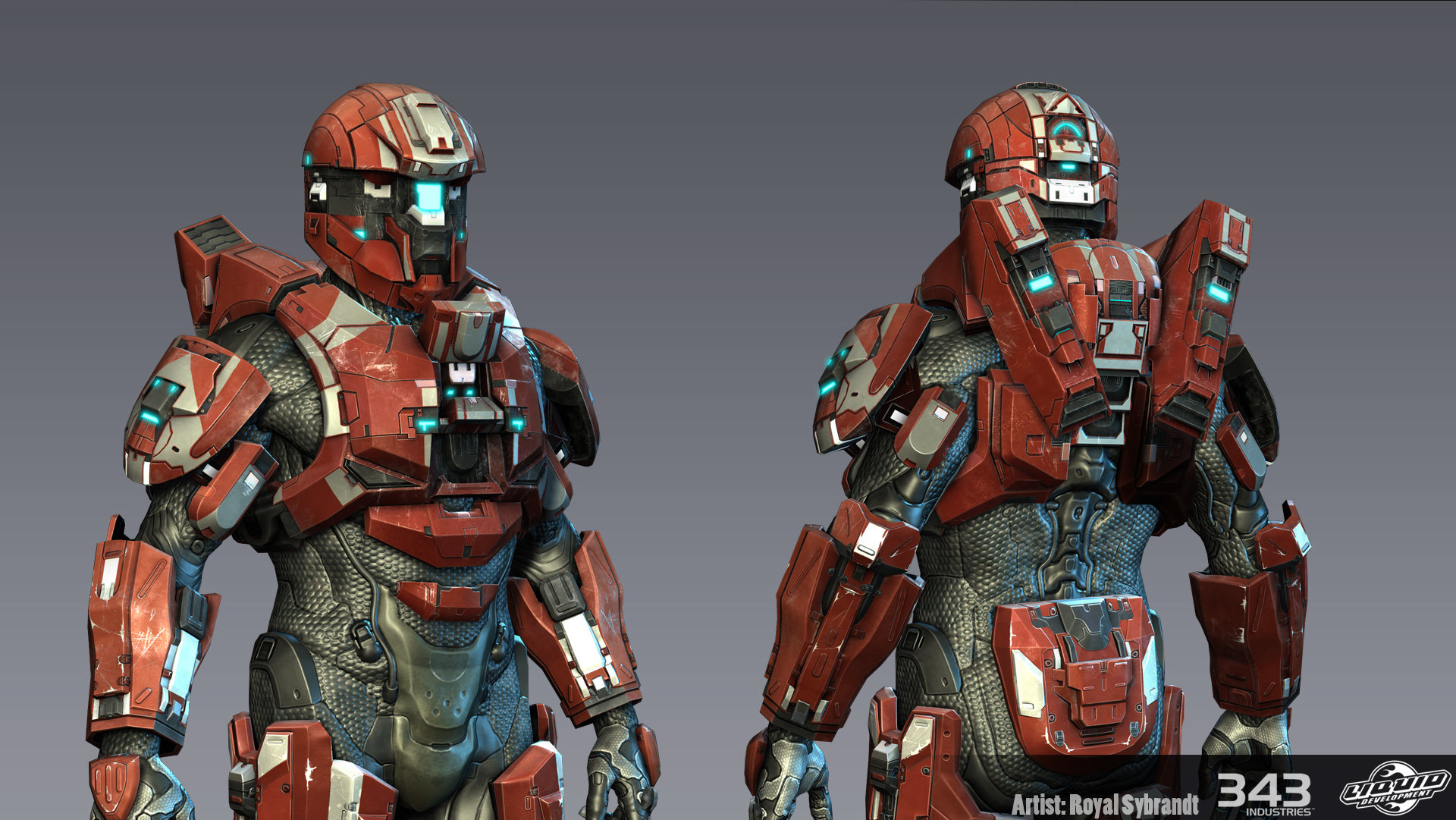 Artstation Halo 4 Vanguard Armor Royal Sybrandt