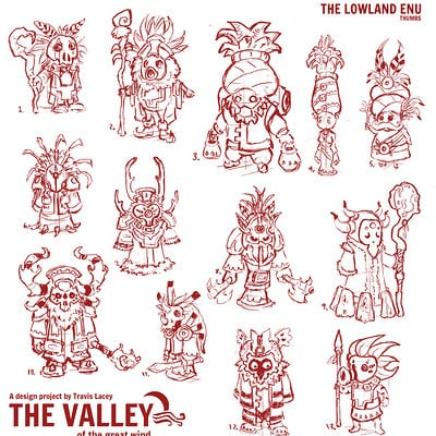 Travis lacey the lowland enu thumbs concept art design travis lacey the valley of the great wind