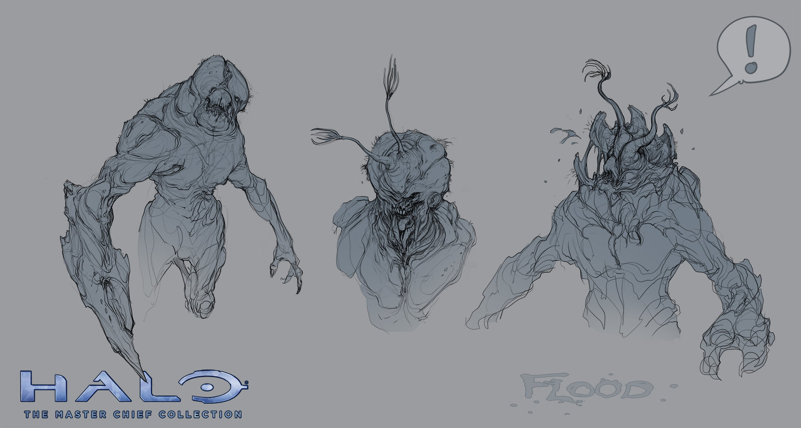 Halo 2: Anniversary Flood sketches