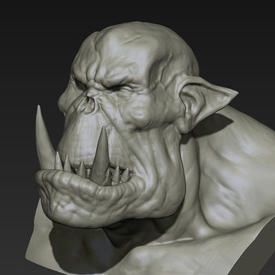 Toby hynes orc bust sketch 01