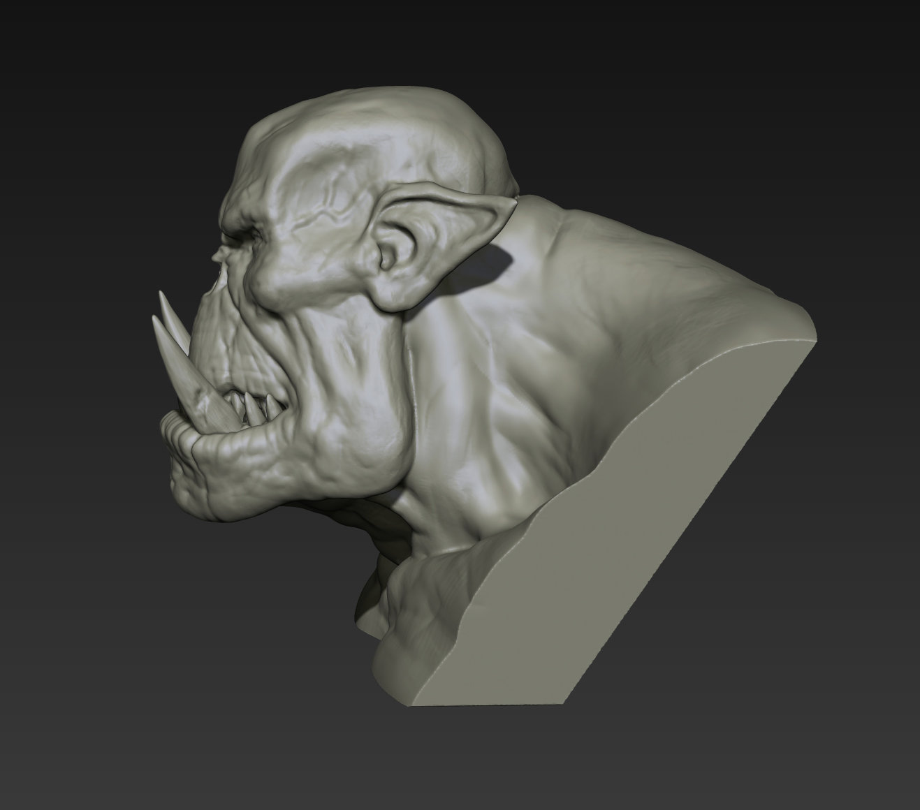 Toby hynes orc bust sketch 04