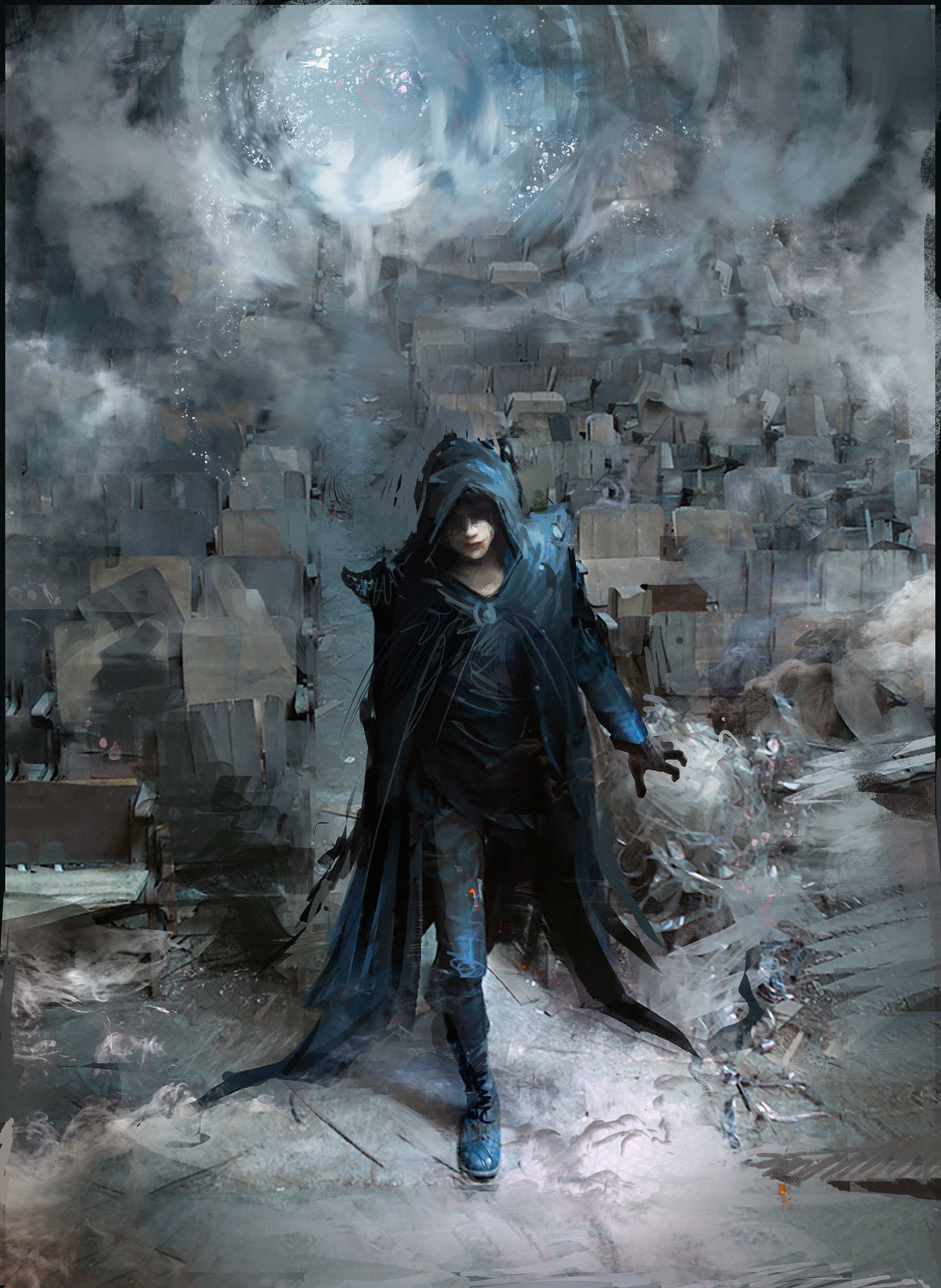 artstation wizard of the mists speedpaint klaus wittmann