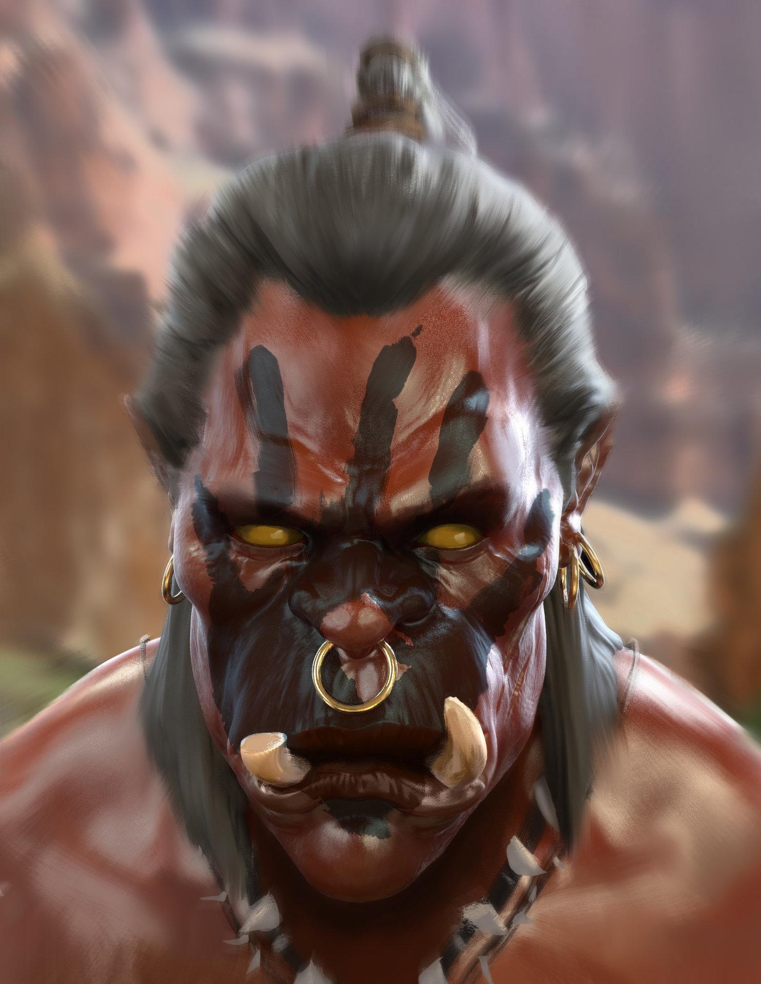 Jad saber orc head