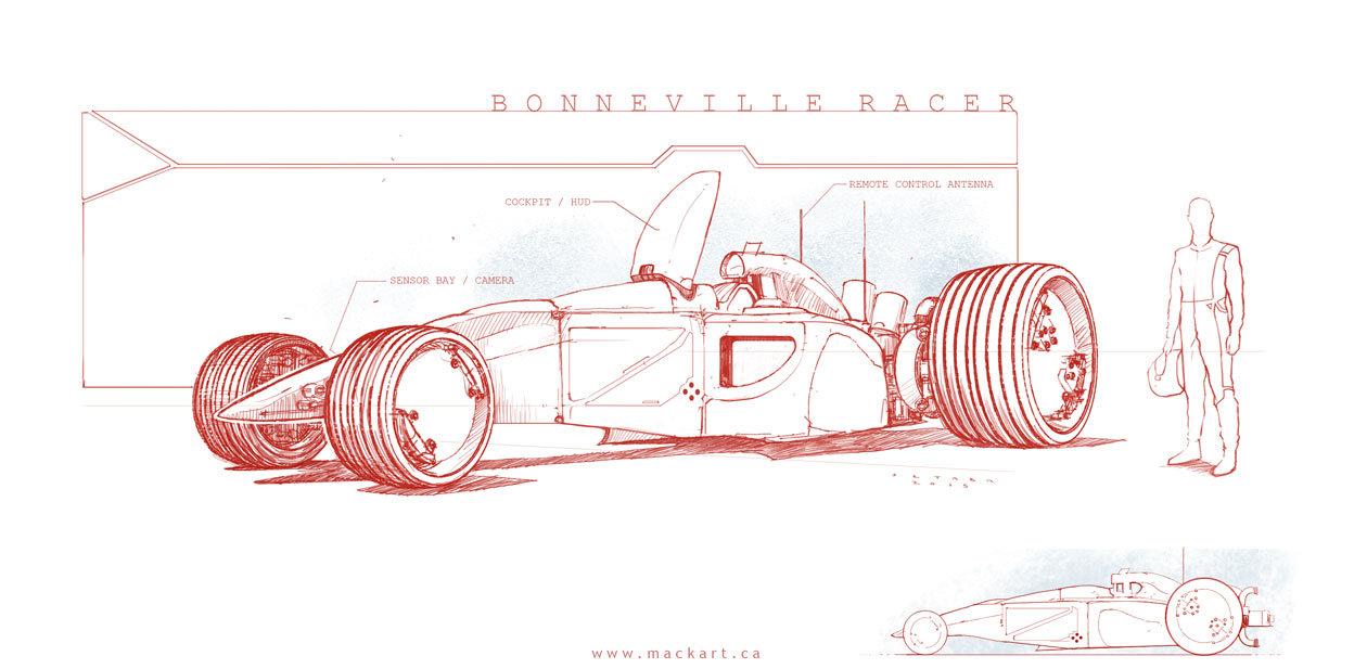 Bonneville Racer
