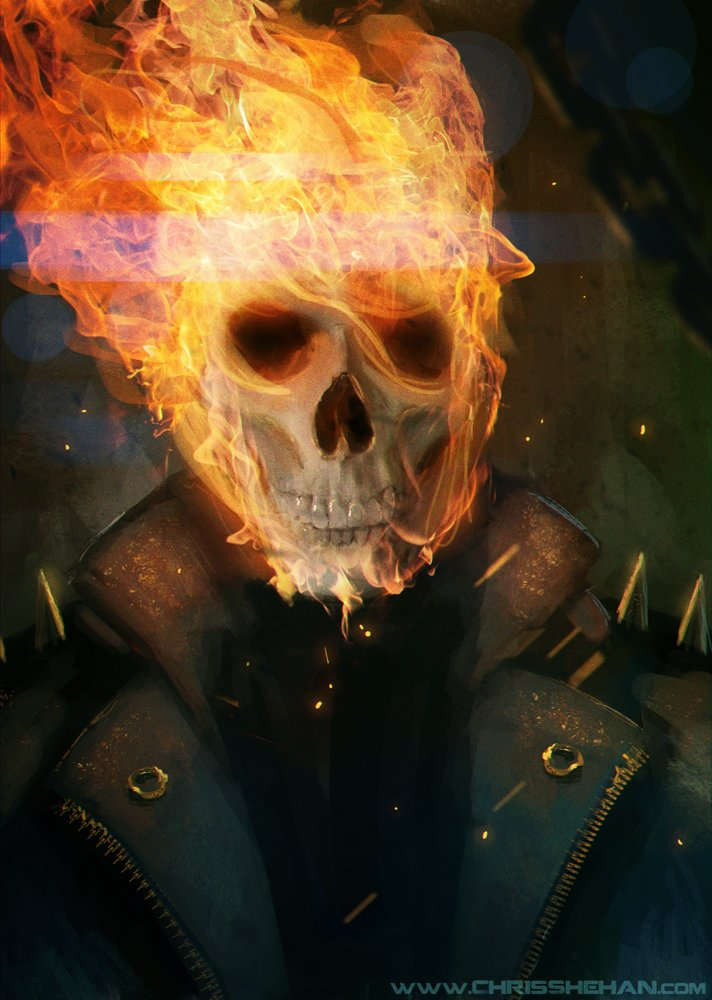 Chris shehan ghost rider by zhourules d5y9u5a