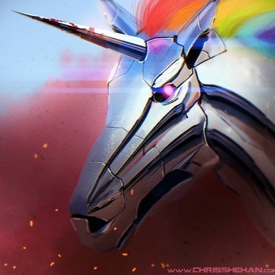 Chris shehan robot unicorn attack by zhourules d67zpca