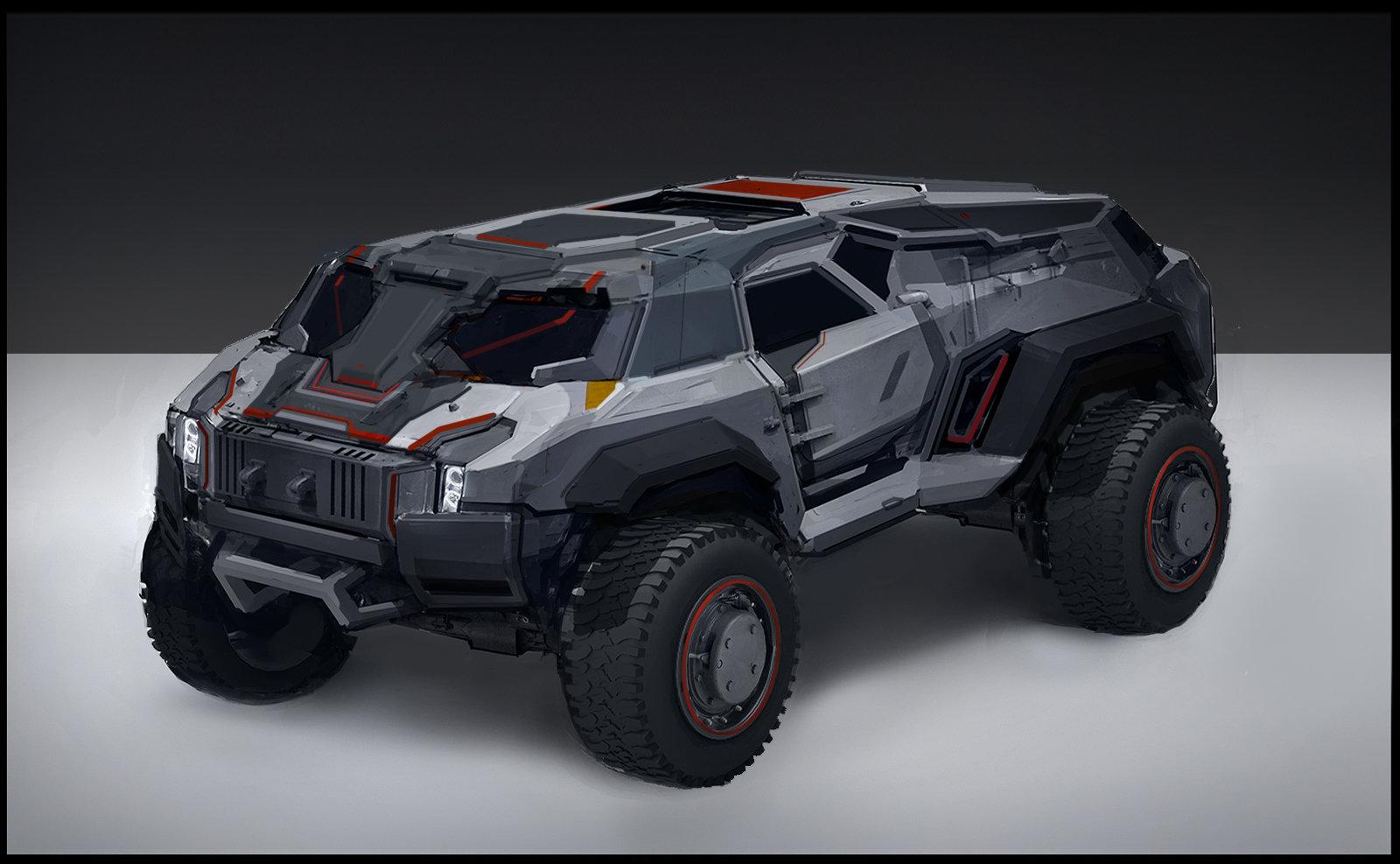 Armored Car For Sale >> ArtStation - Vehicle sketch, Sam Brown