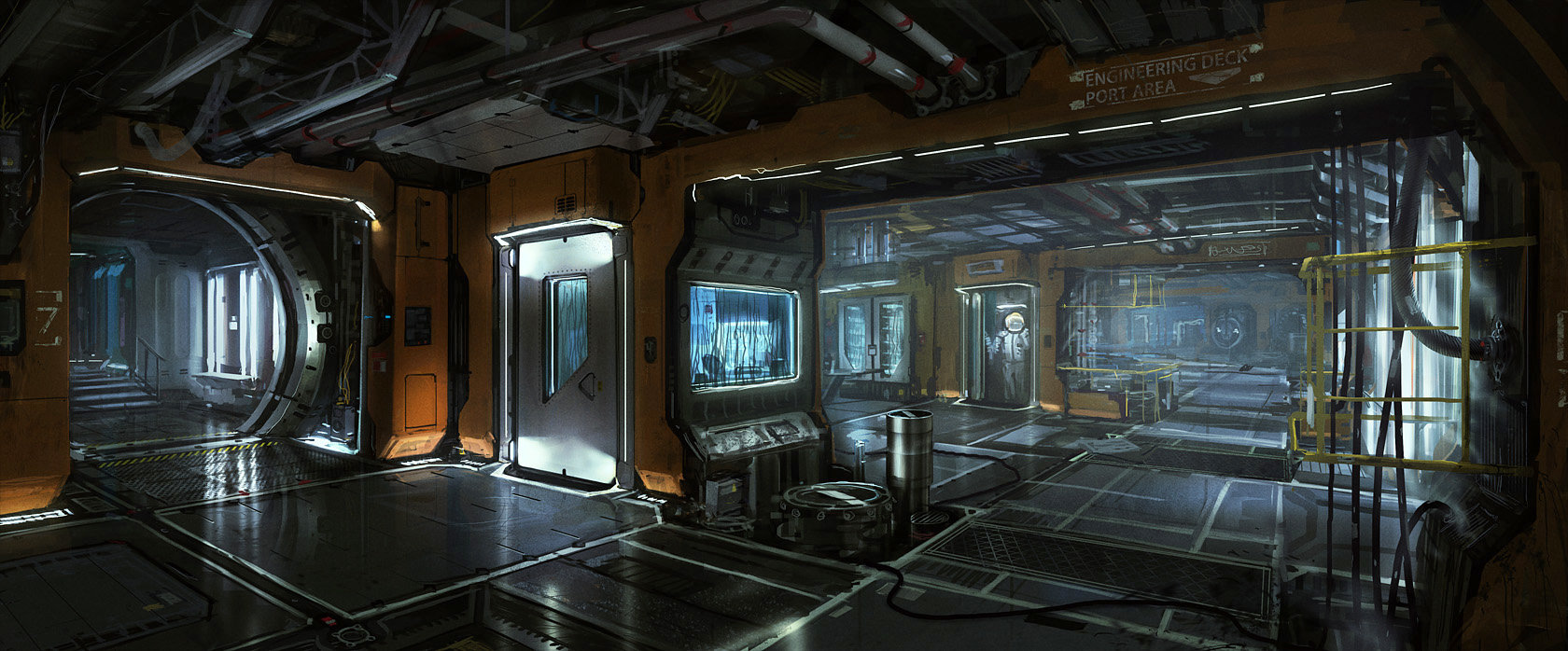 Viktor jonsson spaceship interior corridor 05ggbig