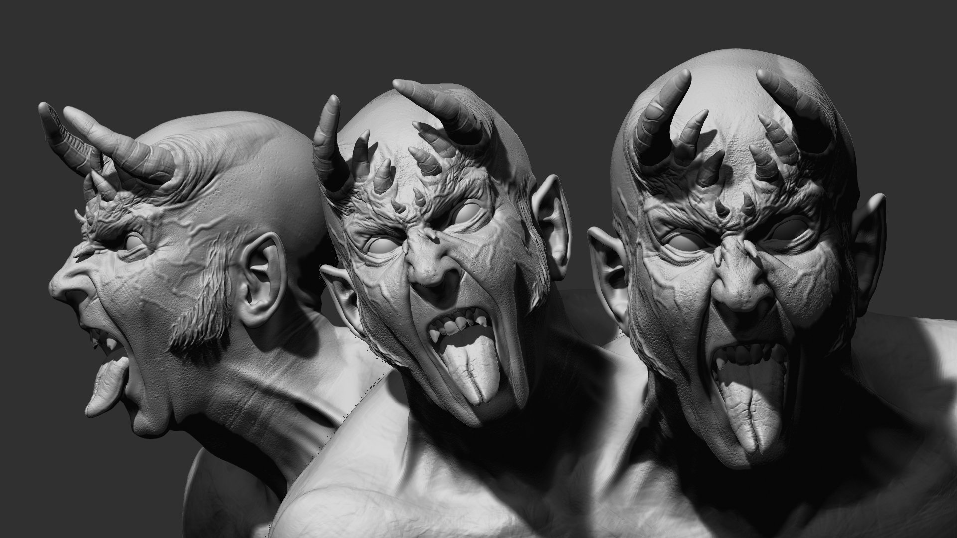 Rudy massar dark kiss demon portrait wip