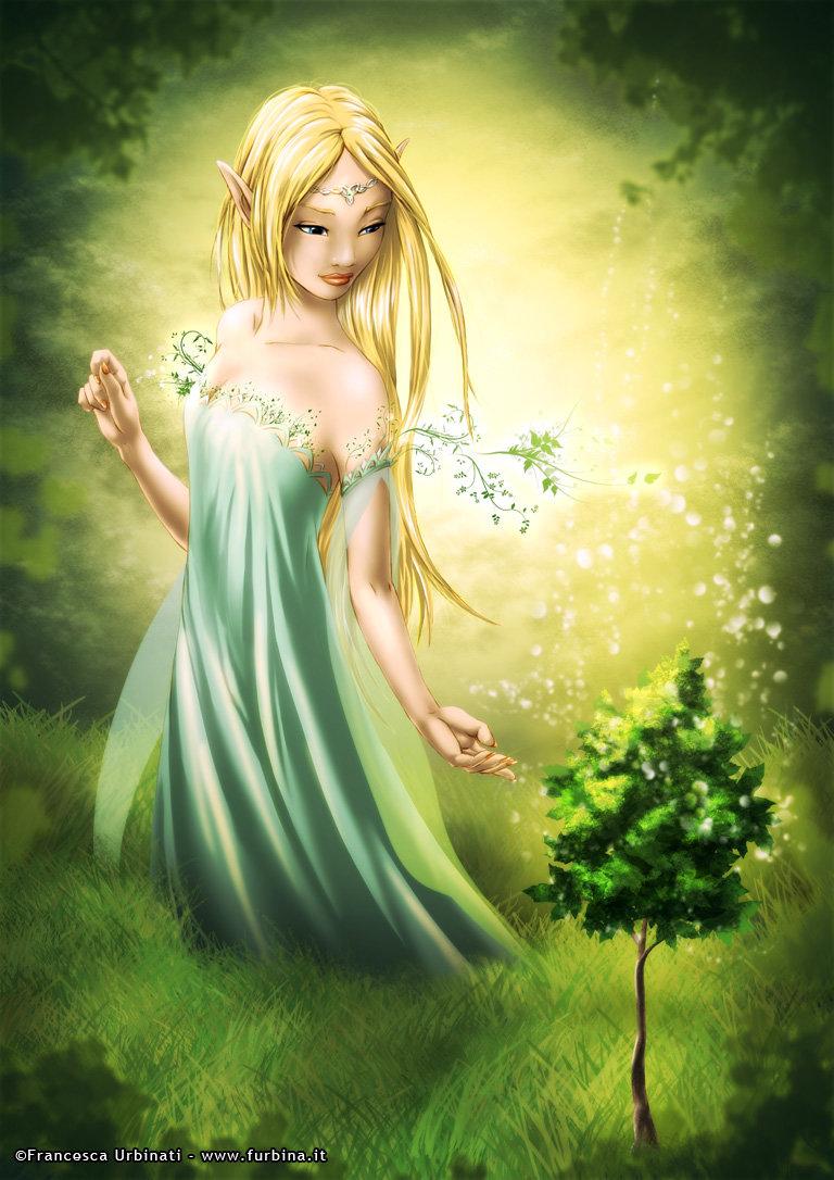 artstation then elven goddess francesca urbinati