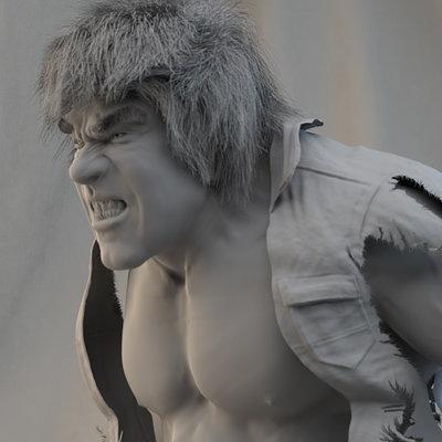 Rudy massar lou ferrigno hulk plinth