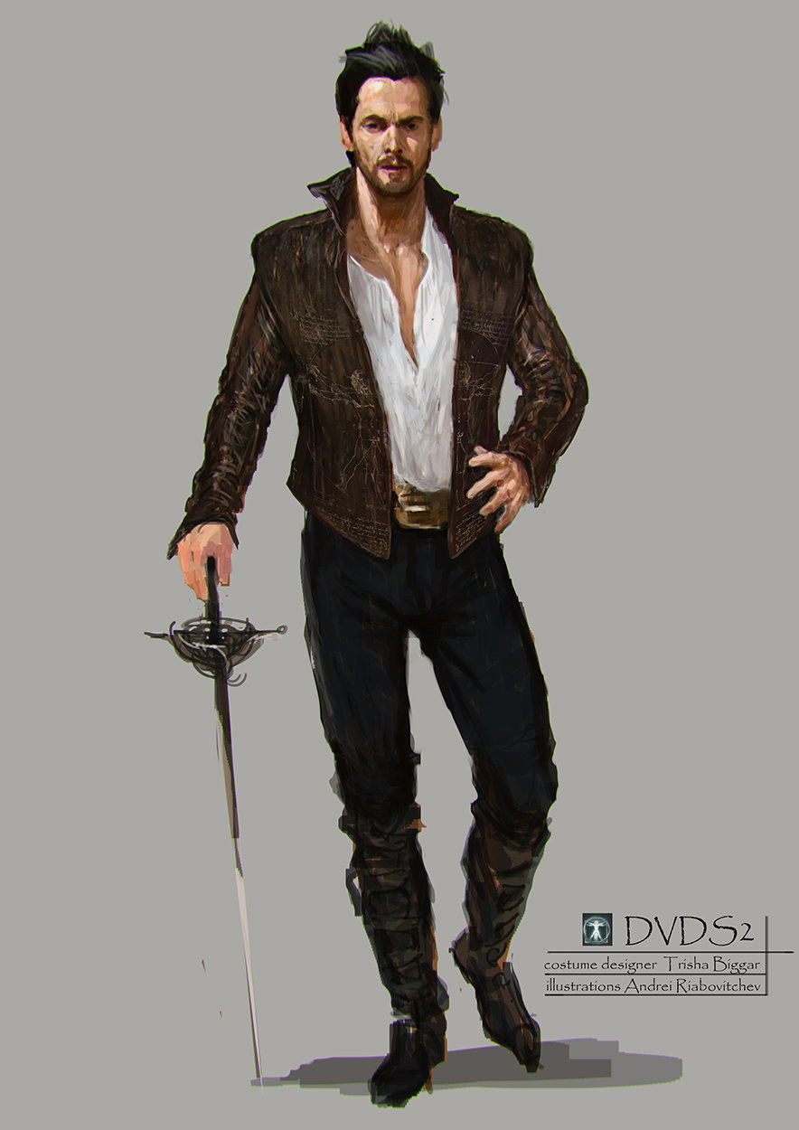 costume illustrations ,done for TV series Da Vinci's Demons season 2