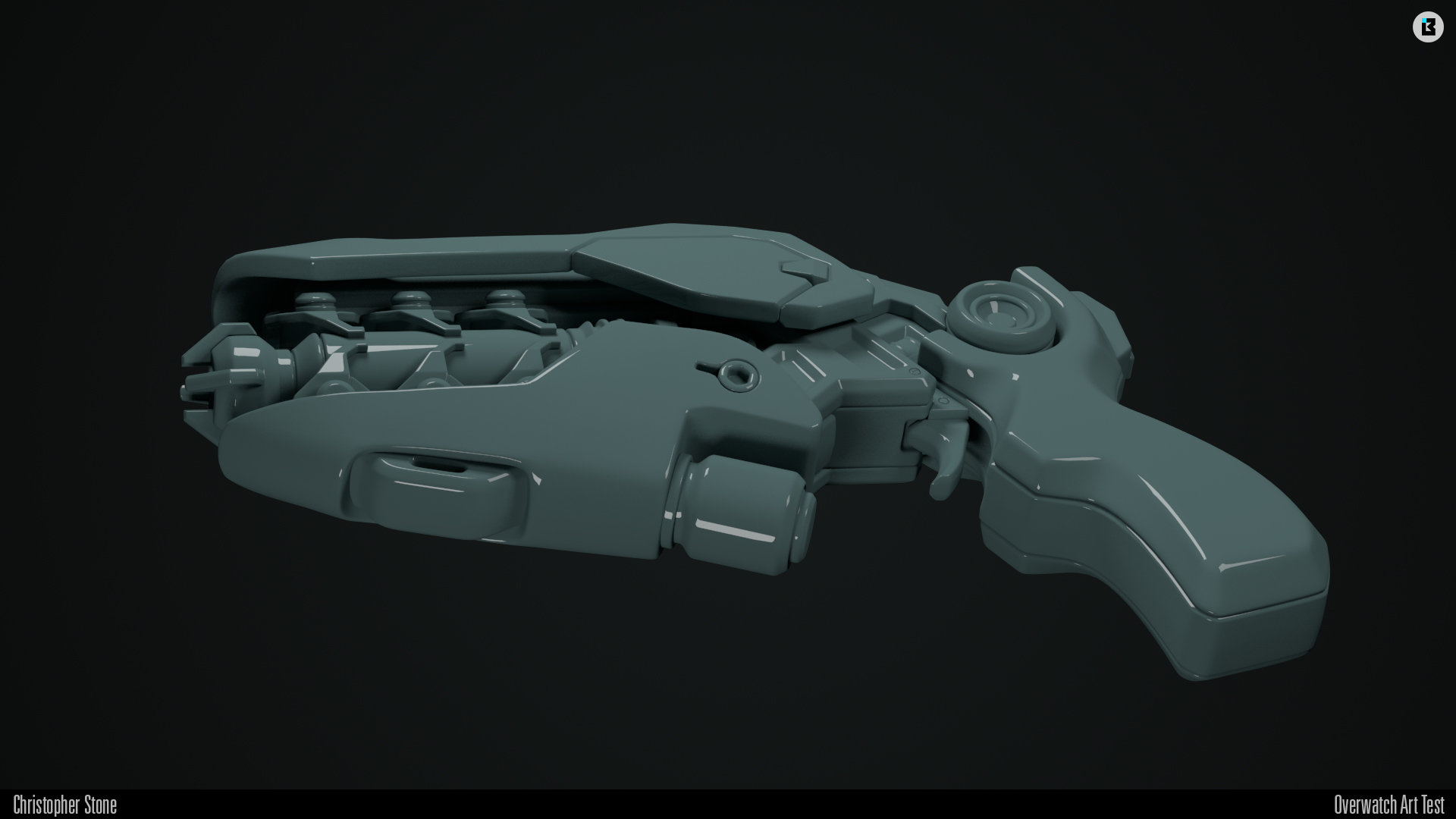 High-poly render
