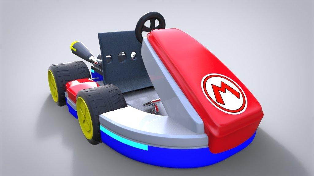 kart 3d ArtStation   Mario Kart 3d Model, Miguel Gonzalez