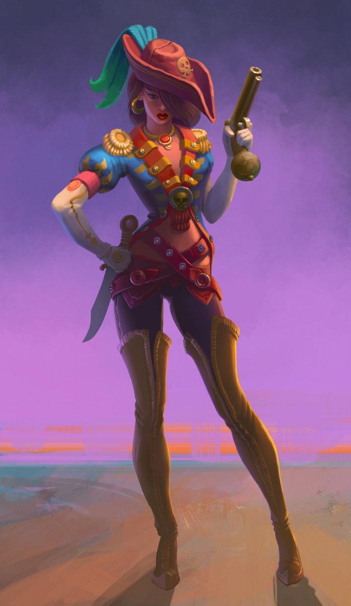 pirate girl by chepurkoandrew d8hbjqy