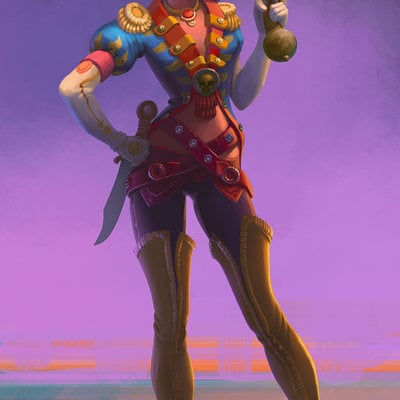pirate girl by chepurkoandrew d8hbjqy