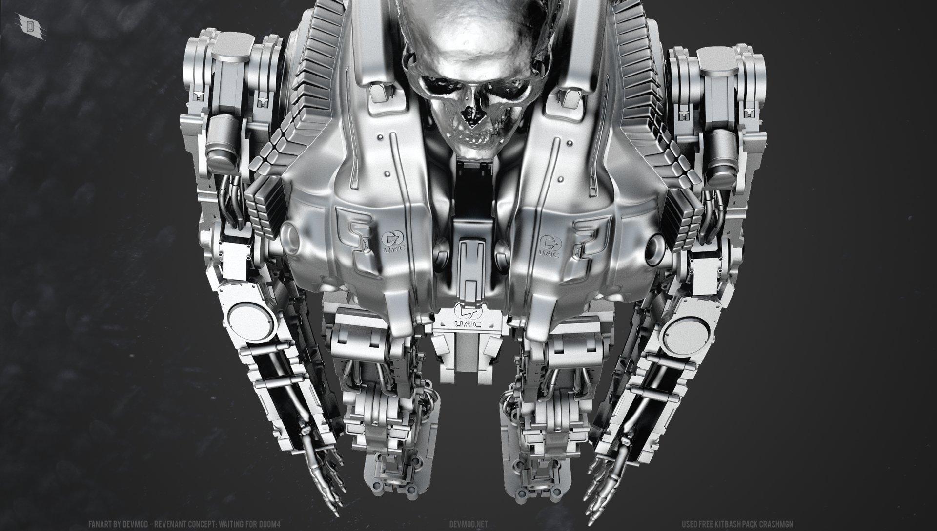 ArtStation - Doom 4 Fan art revenant concept, Ilya