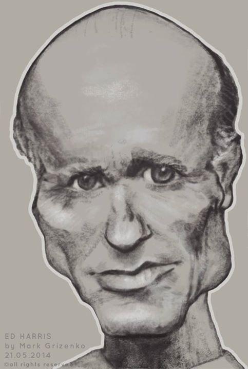 Ed Harris - Caricature Portrait