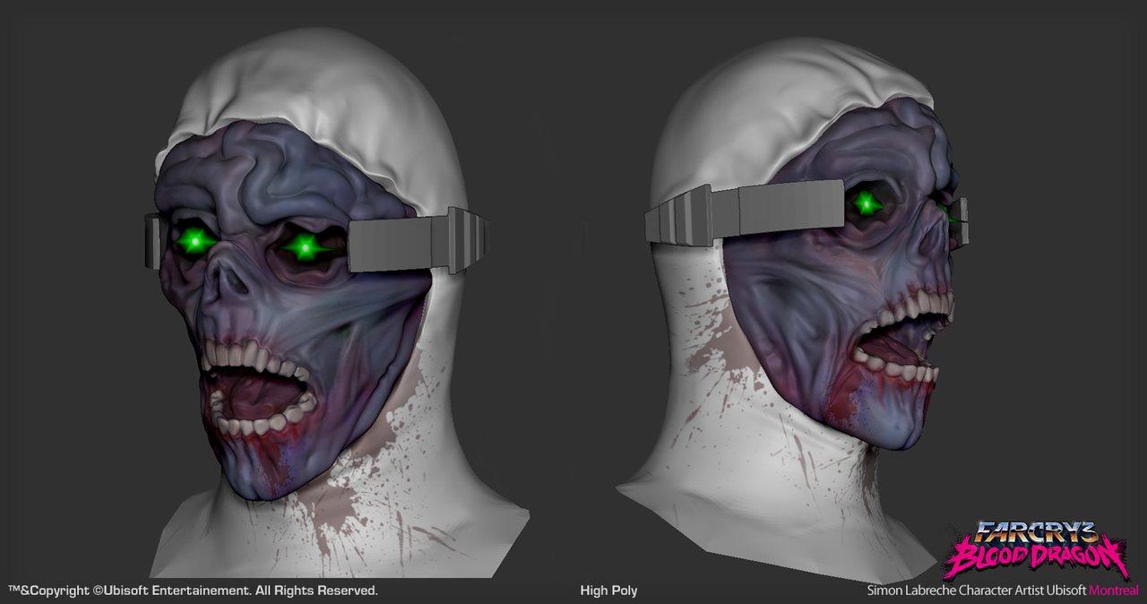 Artstation Zombie Head Far Cry 3 Blood Dragon Simon Labreche