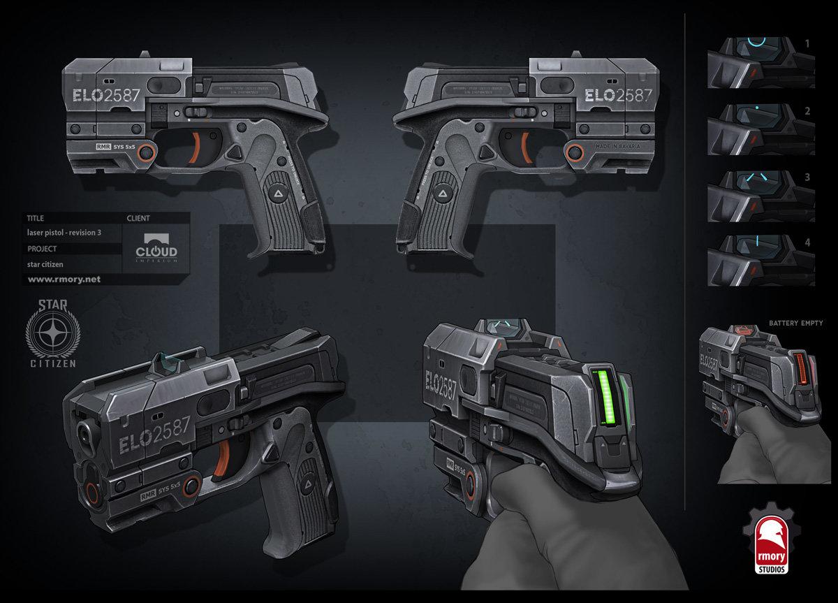 Star Citizen - laser pistol