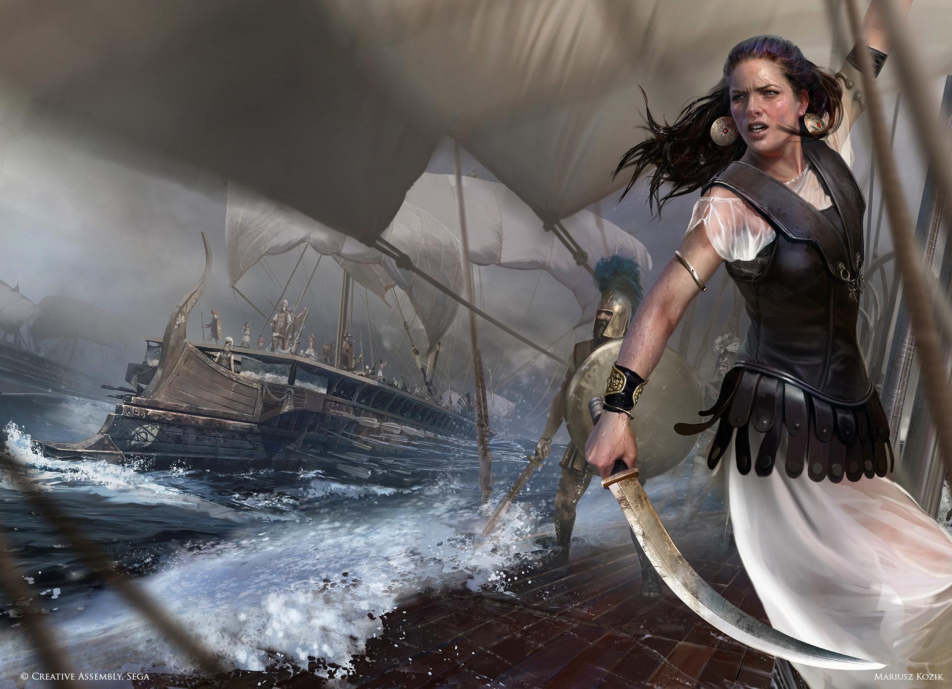 Queen Teuta by Mariusz Kozic