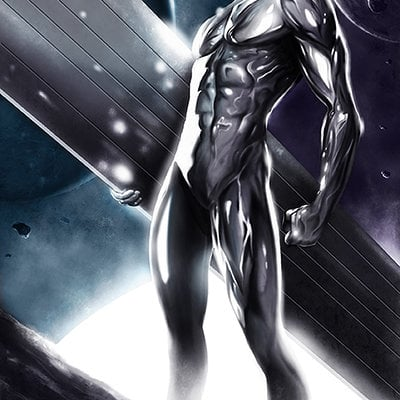 Max moda art silver surfer colorato