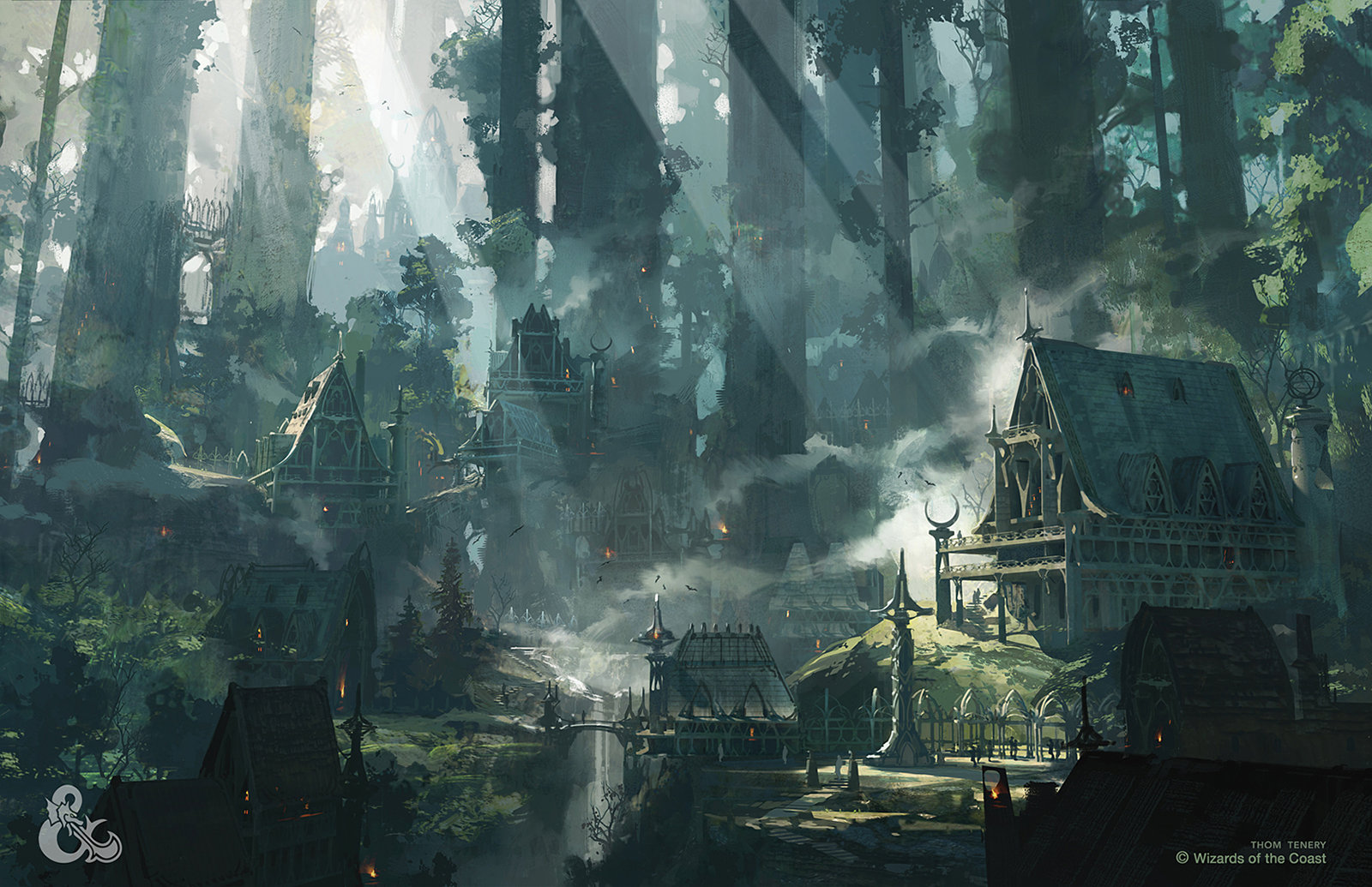 ArtStation  Elven City Thom Tenery