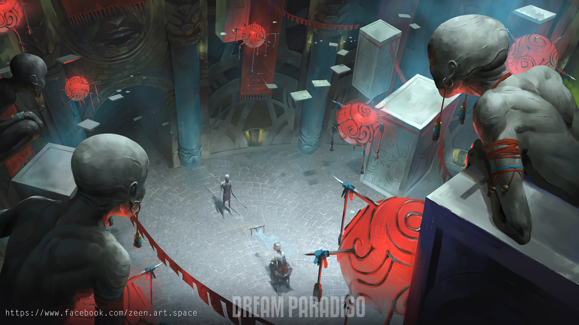 Zeen chin dream paradiso environment concept art2