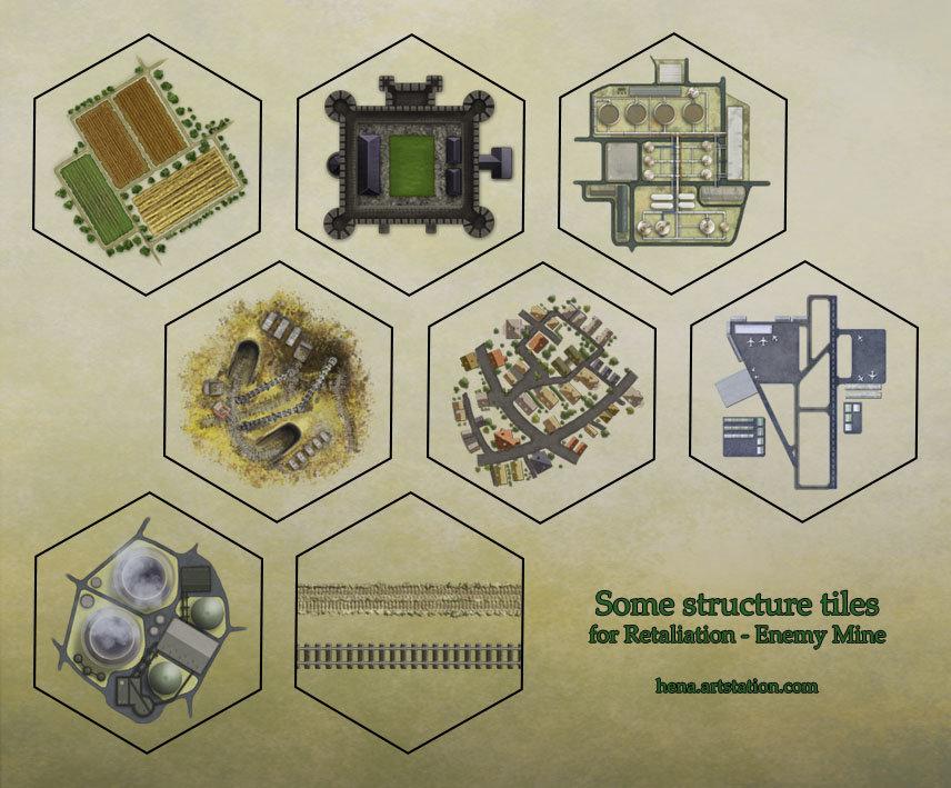 Terrain tiles - structures