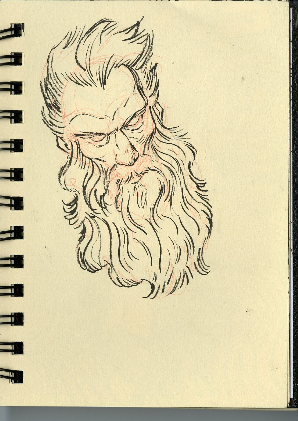 Anthony rivero creamsketchbookbeardedman
