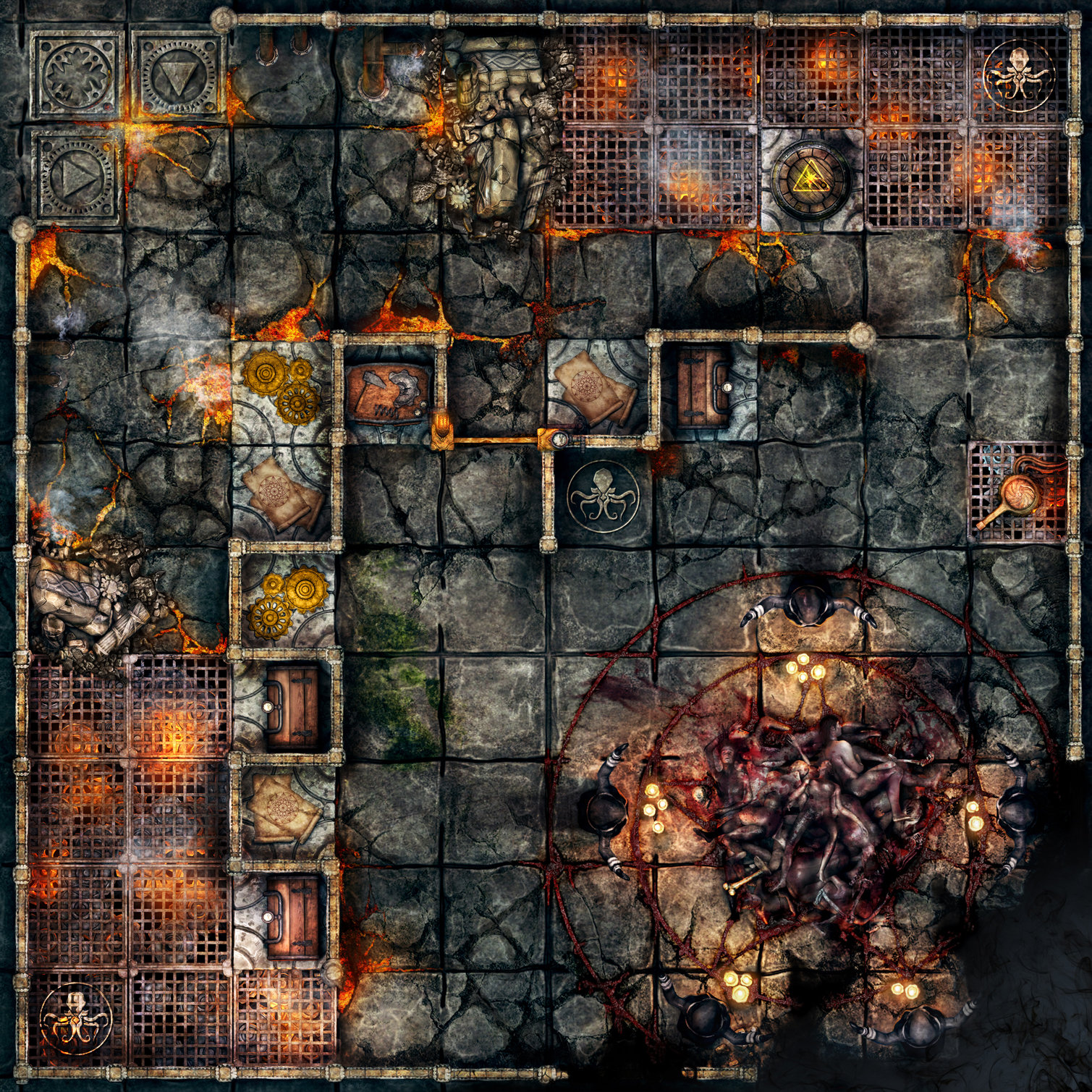 Final chapter tile with a dark ritual.