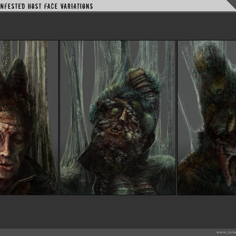 Sci-fi Horror - Infested Face Variations